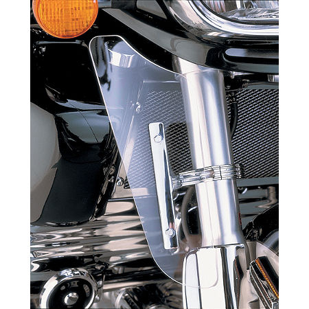 Show Chrome Fork Wind Deflector - Clear