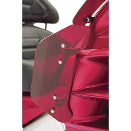 Show Chrome Lower Wind Deflector - Bright Red - Show Chrome Front Fairing Nose Trim