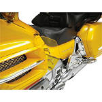 Show Chrome Lower Wind Deflector - Yellow - Motorcycle Windshields & Accessories
