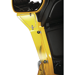 Show Chrome Upper Wind Deflector - Yellow - Show Chrome Lower Wind Deflector - Yellow