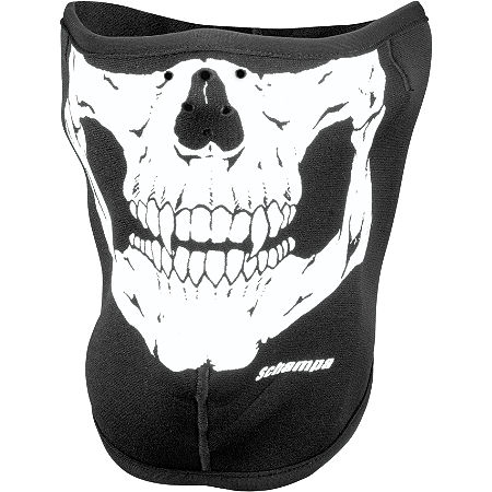 Schampa Fleeceprene Half Mask - Skull - Main