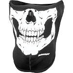 Schampa Fleeceprene Half Mask - Skull -  Motorcycle Riding Headwear