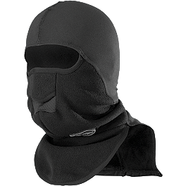 Schampa Warmskin Pharaoh Deluxe II - Zan Headgear Neoprene Full Face Mask With Fleece Neck Shield