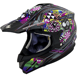Scorpion VX-34 Demented Helmet - 2014 Fly Racing Three.4 Helmet