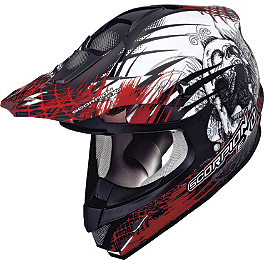 Scorpion VX-34 Scream Helmet - 2013 Rockhard MX Helmet - Iron Maiden