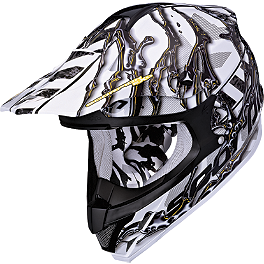 Scorpion VX-34 Oil Helmet - 2013 Rockhard MX Helmet - Iron Maiden