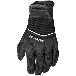 Scorpion Cool Hand II Mesh Gloves - Power Trip Jet Black Perforated Gloves