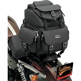 Saddlemen BR1800EX Sissy Bar Bag Without Studs - Saddlemen Cruis'N Slant Saddlebags - Custom Fit