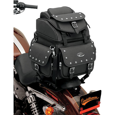 Saddlemen BR1800EXS Sissy Bar Bag With Studs - Main