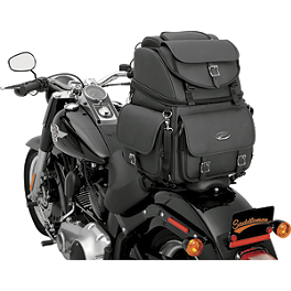 Saddlemen BR3400EX Sissy Bar Bag Without Studs - Saddlemen Rigid Mount Universal Desperado Saddlebags