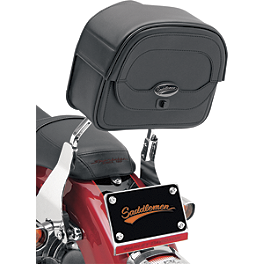 Saddlemen Cruis'N Sissy Bar Bag - 2004 Honda VTX1300S Saddlemen Saddle Skins Seat Cover - Black