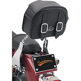 Saddlemen Drifter Sissy Bar Bag - 2004 Honda Shadow VLX - VT600C Saddlemen Saddle Skins Seat Cover - Black