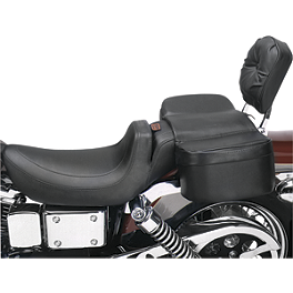 Saddlemen Comfy Saddle Passenger Pad - Saddlemen Cruis'N Slant Saddlebags With Shock Cutaway
