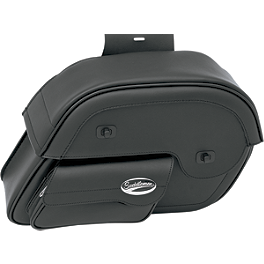 Saddlemen Cruis'N Slant Saddlebags - Face Pouch - Saddlemen Teardrop Drifter Saddlebags With LED Marker Light