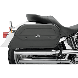 Saddlemen Cruis'N Slant Saddlebags - Throw Over - Saddlemen Desperado Saddlebags With Shock Cutaway