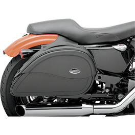 Saddlemen Teardrop Cruis'N Saddlebags - Saddlemen Cruis'N Slant Saddlebags With Shock Cutaway