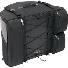 Saddlemen BR4100 Dresser Back Seat Bag - 2009 Kawasaki Vulcan 500 LTD - EN500C Saddlemen Quick Disconnect Kit For Saddlebags