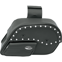 Saddlemen Desperado Slant Saddlebags - Face Pouch - 1995 Kawasaki Vulcan 500 - EN500A Saddlemen Saddle Skins Seat Cover - Black