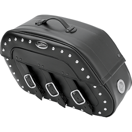 Saddlemen Desperado Quick Release Saddlebags With LED Marker Light - Saddlemen Teardrop Drifter Saddlebags With LED Marker Light