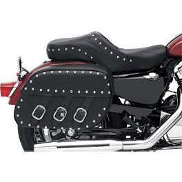 Saddlemen Rigid Mount Universal Desperado Saddlebags - 2005 Kawasaki Vulcan 750 - VN750A Saddlemen Saddle Skins Seat Cover - Black