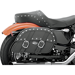 Saddlemen Desperado Slant Saddlebags - Custom Fit - Saddlemen Quick Disconnect Kit For Saddlebags