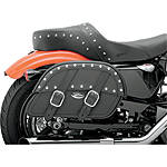 Saddlemen Desperado Slant Saddlebags - Custom Fit - DZUS Cruiser Luggage and Racks