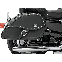 Saddlemen Teardrop Desperado Saddlebags - 2006 Kawasaki Vulcan 900 Classic - VN900B Braking CM55 Sintered Sport Brake Pads - Front Left