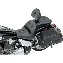 Saddlemen Explorer RS Seat With Backrest - Vance & Hines Conversion Kit For 2-1 To Duals