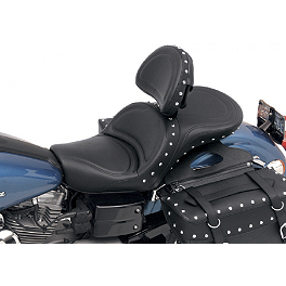 Saddlemen Explorer Special Seat With Driver Backrest - 2006 Honda VTX1300R Saddlemen Saddle Skins Seat Cover - Black