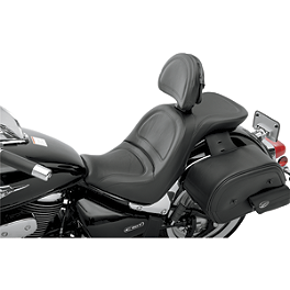 Saddlemen Explorer Seat With Front Backrest - 2006 Honda VTX1300S Saddlemen Saddle Skins Seat Cover - Black