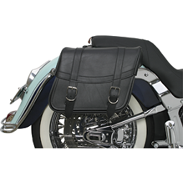 Saddlemen Highwayman Slant Saddlebags - Classic - Saddlemen BR1800EXS Sissy Bar Bag With Studs