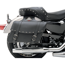 Saddlemen Highwayman Slant Saddlebags - Rivet - Saddlemen Titanium-Coated Bullet LED Marker/Signal Light Kit - Standard Trim