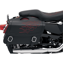 Saddlemen Highwayman Tattoo Saddlebags - 2008 Honda VTX1300R Saddlemen Saddle Skins Seat Cover - Black
