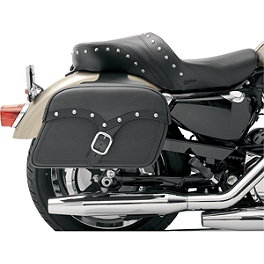 Saddlemen Midnight Express Desperado Slant Saddlebags - 2003 Honda Shadow VLX Deluxe - VT600CD Saddlemen Saddle Skins Seat Cover - Black