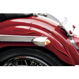Saddlemen Polished Bullet LED Marker / Signal Light Kit - Hood Trim - Kuryakyn Super Bright LED Strut Mount Mini Bullets