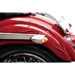 Saddlemen Polished Bullet LED Marker / Signal Light Kit - Hood Trim - Saddlemen Cruiser Lighting