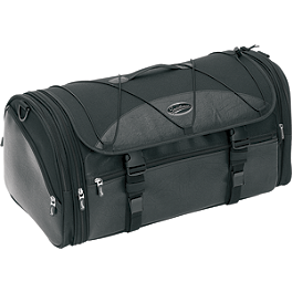 Saddlemen TR3300DE Deluxe Rack Bag - Motocentric Mototrek Roll Tail Bag