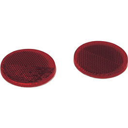 Saddlemen Round Saddlebag Reflectors - Saddlemen Round Saddlebag Reflectors