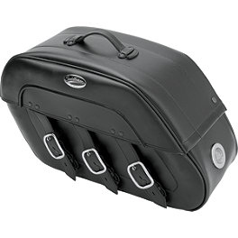 Saddlemen Drifter Quick Release Saddlebags With LED Marker Light - 2008 Yamaha V Star 650 Classic - XVS65A Yamaha Star Accessories Classic Deluxe Saddlebags - Plain