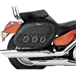 Saddlemen Drifter Quick Release Saddlebags - 2008 Honda VTX1300C Saddlemen Saddle Skins Seat Cover - Black