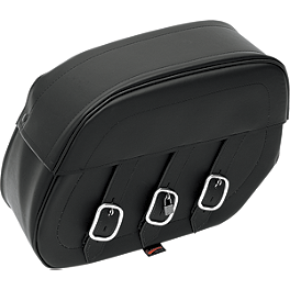 Saddlemen Rigid Mount Universal Drifter Saddlebags - 1998 Yamaha VMAX 1200 - VMX12 Saddlemen Saddle Skins Seat Cover - Black