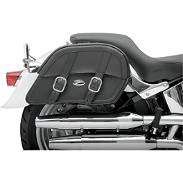 Saddlemen Drifter Slant Saddlebags - Custom Fit - Saddlemen Drifter Saddlebags With Shock Cutaway
