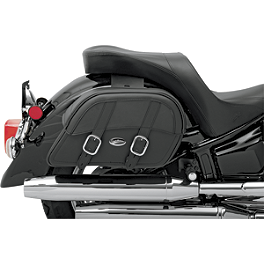 Saddlemen Drifter Slant Saddlebags - Throw Over - Saddlemen Desperado Saddlebags With Shock Cutaway