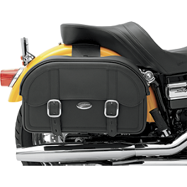 Saddlemen Drifter Straight Saddlebags - Throw Over - 2000 Kawasaki Vulcan 750 - VN750A Saddlemen Saddle Skins Seat Cover - Black