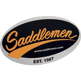 Saddlemen Embossed Metal Sign - Saddlemen Round Saddlebag Reflectors