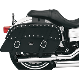 Saddlemen Desperado Slant Saddlebags - Throw Over - Saddlemen BR1800EX Sissy Bar Bag Without Studs