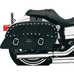 Saddlemen Desperado Slant Saddlebags - Throw Over - DZUS Cruiser Luggage and Racks