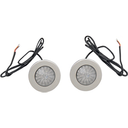 Saddlemen LED Saddlebag Marker/Signal Light Kit - Silver - Drag Specialties Baron Marker Light Replacement Gasket