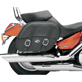Saddlemen Drifter Saddlebags With Shock Cutaway - Saddlemen Cruis'N Deluxe Sissy Bar Bag