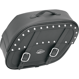Saddlemen Desperado Saddlebags With Shock Cutaway - 2003 Suzuki Savage 650 - LS650P Saddlemen Saddle Skins Seat Cover - Black
